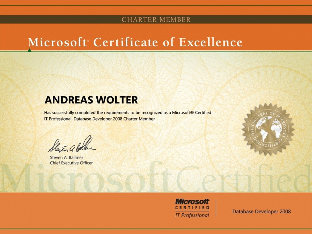 Certifications – Andreas Wolter