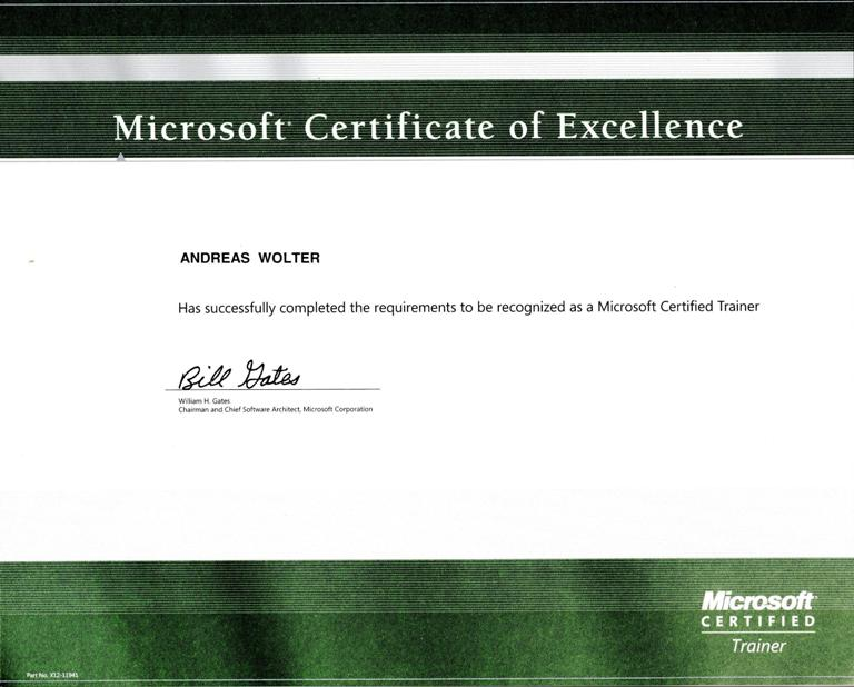 Nice Microsoft Certificate Of Excellence Illustration - Online Birth ...